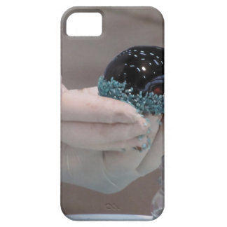 Pastry chef decorating a glazed chocolate cake iPhone 5 covers