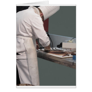 Pastry chef in the kitchen card