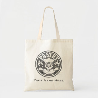 Pastry Chef Skull and Crossed Pastry Bags Gray