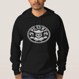 Pastry Chef Skull and Crossed Pastry Bags Hooded Pullovers