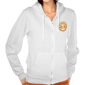 Pastry Chef Skull and Crossed Pastry Bags Hooded Sweatshirt