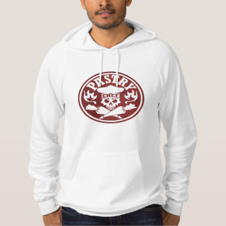 Pastry Chef Skull and Crossed Pastry Bags Red Hoodie