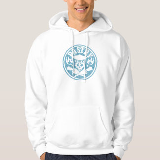 Pastry Chef Skull and Pastry Bags Light Blue Hoody