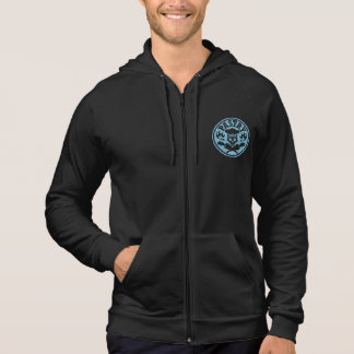 Pastry Chef Skull and Pastry Bags Light Blue Pullover