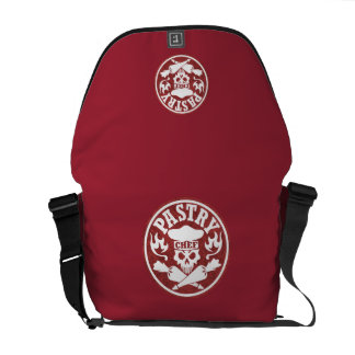 Pastry Chef Skull Red Commuter Bags