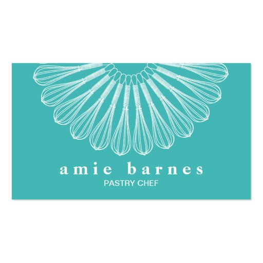 Pastry Chef Whisk Logo Bakery Business Cards