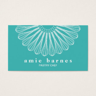 Pastry Chef Whisk Logo Catering  Bakery Business Card
