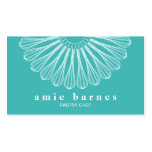 Pastry Chef Whisk Turquoise Blue Bakers Business Cards
