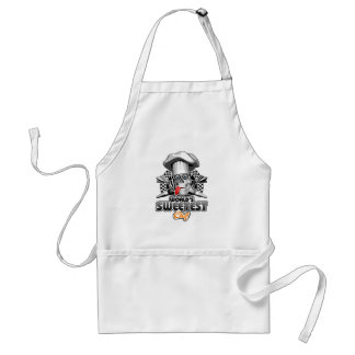 Pastry Chef: World's Sweetest Chef v5 (B&W) Adult Apron