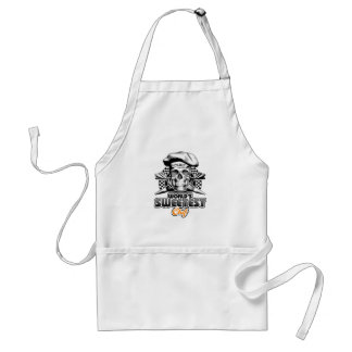 Pastry Chef: World's Sweetest Chef v6 (B&W) Adult Apron