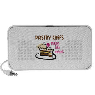 PASTRY CHEFS MAKE LIFE SWEET iPod SPEAKERS