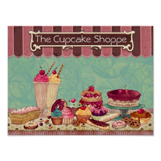 Pastry Cupcake Patisserie Bakery Shop Sign Zazzle