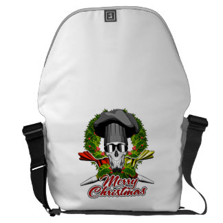 Pastry Skull: Merry Christmas V2 Courier Bags