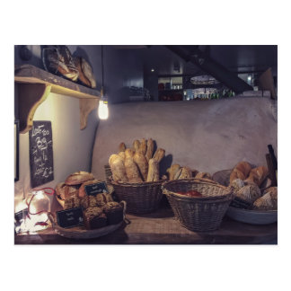 Pastry Themed, Vintage Bakery And Pastry Shop Inte Postcard