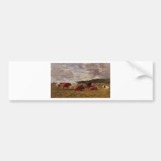 Pasture at Deauville by Eugene Boudin Bumper Sticker