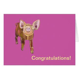 Pasture Pig Congrats Card