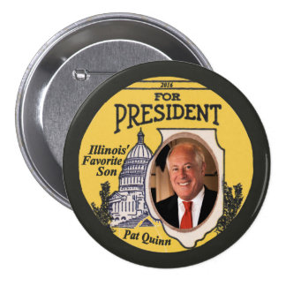 Pat Quinn Democrat for President 2016 7.5 Cm Round Badge