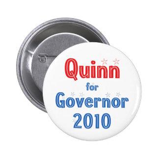 Pat Quinn for Governor 2010 Star Design 6 Cm Round Badge
