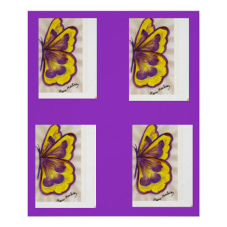 Pat s Yellow Butterfly Poster