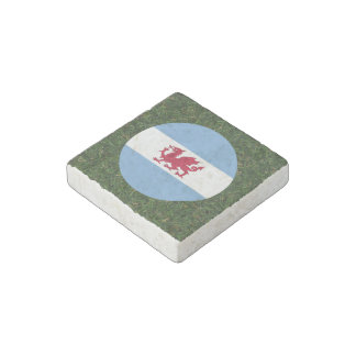 Patagonia Flag on Grass Stone Magnet