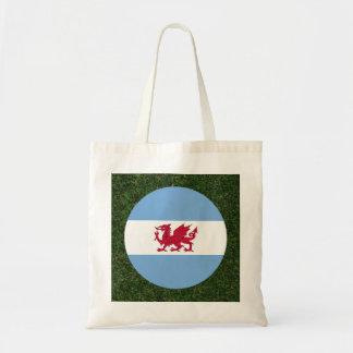 Patagonia Flag on Grass Budget Tote Bag