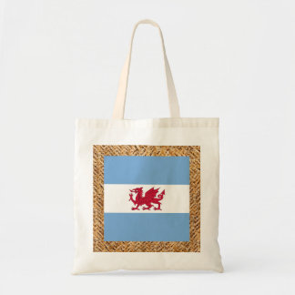 Patagonia Flag on Textile themed Budget Tote Bag