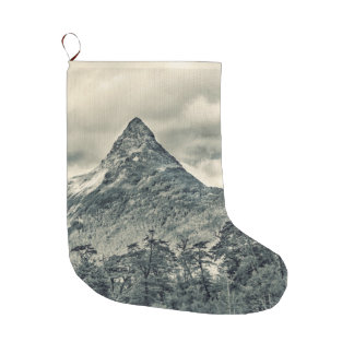 Patagonia Forest Landscape, Aysen, Chile Large Christmas Stocking