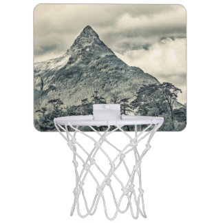 Patagonia Forest Landscape, Aysen, Chile Mini Basketball Hoop