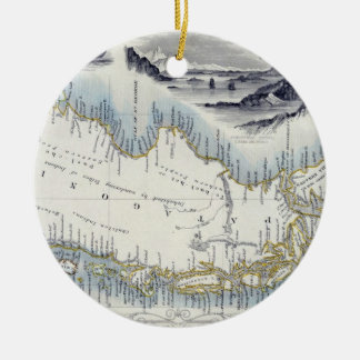 Patagonia, from a Series of World Maps published b Ceramic Ornament
