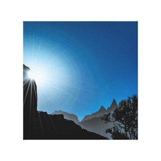 Patagonia Landscape Scene, Aysen, Chile Canvas Print