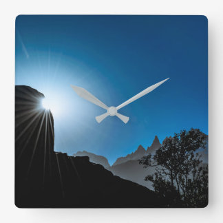 Patagonia Landscape Scene, Aysen, Chile Square Wall Clock