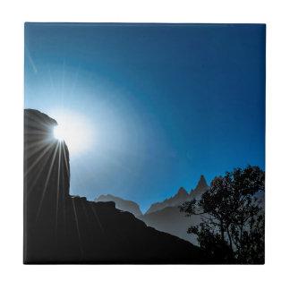 Patagonia Landscape Scene, Aysen, Chile Tile