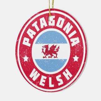 Patagonia Welsh Flag Ceramic Ornament