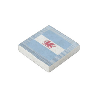 Patagonian Flag Floating on water Stone Magnet