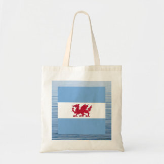 Patagonian Flag Floating on water Budget Tote Bag