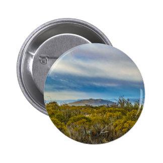 Patagonian Landscape Scene, Santa Cruz, Argentina 6 Cm Round Badge