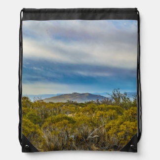 Patagonian Landscape Scene, Santa Cruz, Argentina Drawstring Bag