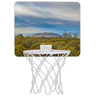 Patagonian Landscape Scene, Santa Cruz, Argentina Mini Basketball Hoop
