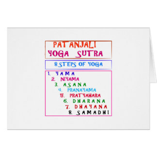 PATANJALI Yoga Sutra Compilation List Greeting Card