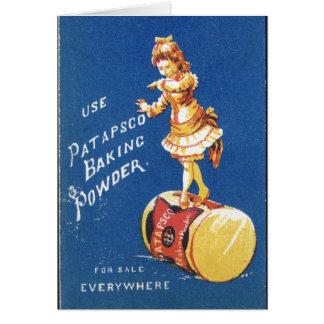 Patapsco Baking Powder vintage ad Card