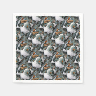 patch of snow paper napkins