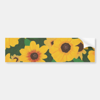 Patch of Yellow Sunflowers on bumper stickers