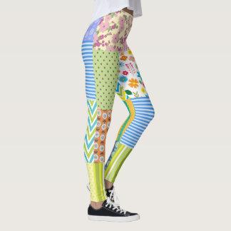 Patch work leggings