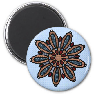 Patch work mandala fridge magnet