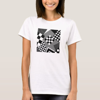 Patched Abstract T-Shirt