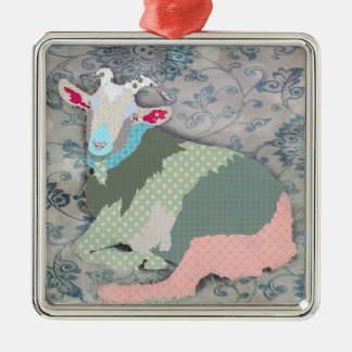 Patches Goat Ornament