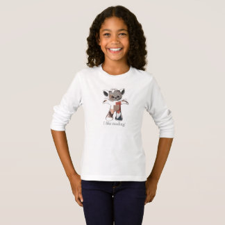 Patches the Cat long sleeve shirt I like reading!