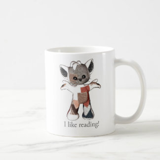 Patches the Cat mug I like reading!