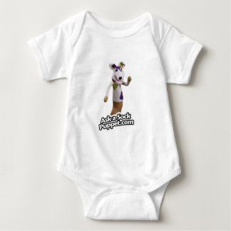 Patches the Sock Puppet Waves Hi Baby Bodysuit