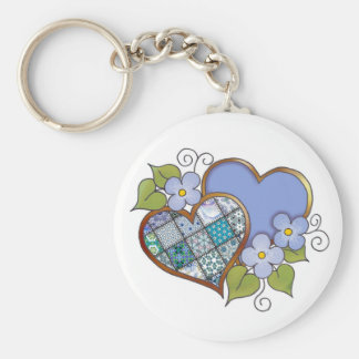 Patchwork 09 Tropical Sky Blue Key Chain